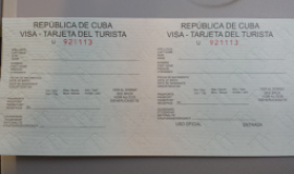 Cuban Visa November 28, 2013