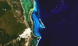 Cancun, Mexico via https://commons.wikimedia.org/wiki/File:Landsat_Cancun_Mexico.jpg