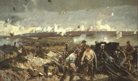 Battle of Vimy Ridge After Richard Jack [Public domain or Public domain], via Wikimedia Commons