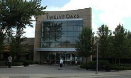 Twelve Oaks Mall via http://commons.wikimedia.org/wiki/File:Entrance_of_Twelve_Oaks_Mall.jpg?uselang=en-gb