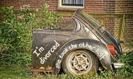 Divorced via http://pixabay.com/en/car-divorce-the-netherlands-joke-701770/