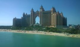 Dubai via https://pixabay.com/en/dubai-palm-jumeirah-uae-tourism-647815/
