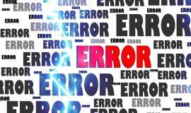 Error via http://pixabay.com/en/error-crash-problem-failure-63628/