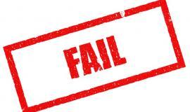 Fail via https://pixabay.com/en/fail-lose-failing-failure-business-1714367/