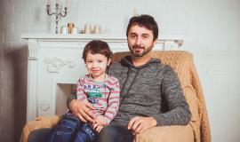 Father and Son via https://pixabay.com/en/family-photoshoot-armchair-dad-2972207/