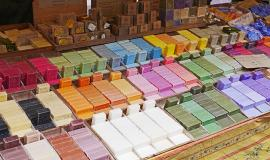 Soap via https://pixabay.com/en/flower-market-nice-soap-stand-1493186/