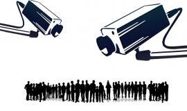 Surveillance [Public Domain] via https://pixabay.com/en/human-humanity-silhouettes-camera-109103/