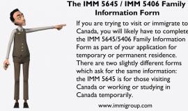 IMM 5645 Family Information Form