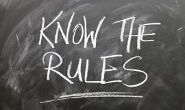 Know the Rules via https://pixabay.com/en/rules-board-circle-font-wont-1752415/