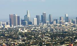 Los Angeles via https://pixabay.com/en/los-angeles-city-california-skyline-402011/