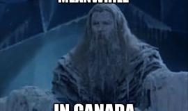 Meanwhile in Canada a frozen person