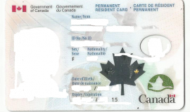 Front of the Permanent Resident Card