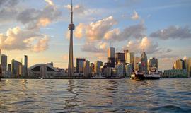 Skyline of Toronto By John Vetterli (originally posted to Flickr as Skyline) [CC-BY-SA-2.0 (https://creativecommons.org/licenses/by-sa/2.0)], via Wikimedia Commons