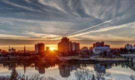 Sunset in Saskatoon, a city not on this list https://pixabay.com/en/sunset-saskatoon-landscape-370244/