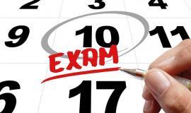 Exam date via http://pixabay.com/en/time-exam-testing-test-hand-leave-481447/