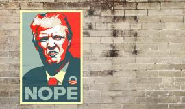 Trump Nope via https://pixabay.com/en/trump-donald-trump-donald-president-1915253/
