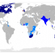 Commonwealth members by Thebainer (Stephen Bain) (Own work, derived from Image:BlankMap-World6.svg) [GFDL (http://www.gnu.org/copyleft/fdl.html) or CC-BY-SA-3.0-2.5-2.0-1.0 (https://creativecommons.org/licenses/by-sa/3.0)], via Wikimedia Commons
