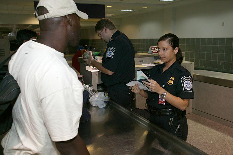 US visa border control