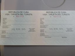 Cuban Visa November 28, 2013