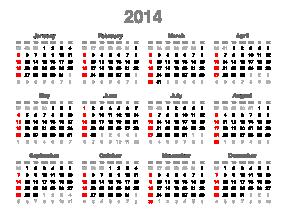 2014 Calendar`