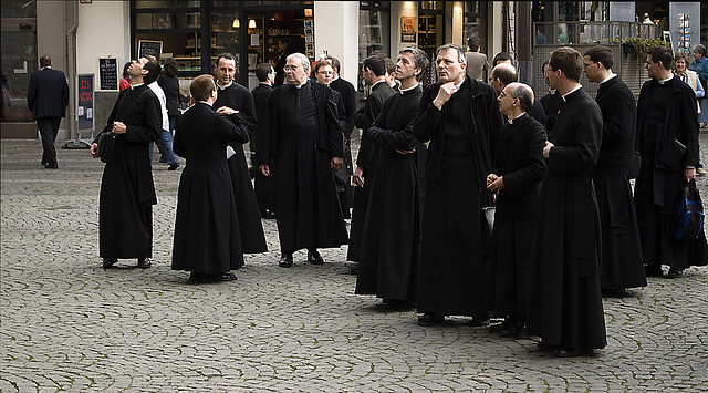 Priests on Holiday by Daan M