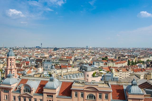 Panorama of Vienna via https://pixabay.com/en/panorama-vienna-austria-city-view-427929/