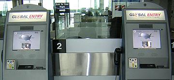 Global Entry Kiosks at an airport via https://commons.wikimedia.org/wiki/File:Global_Entry_Kiosk.jpg