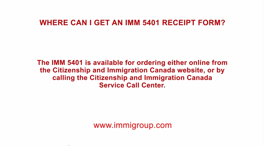 How to fill out the IMM 5401