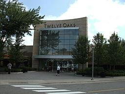 Twelve Oaks Mall via https://commons.wikimedia.org/wiki/File:Entrance_of_Twelve_Oaks_Mall.jpg?uselang=en-gb
