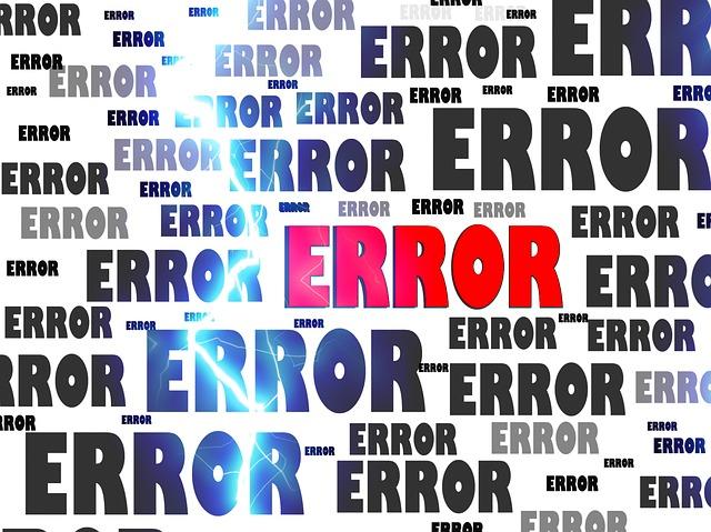 Error via https://pixabay.com/en/error-crash-problem-failure-63628/
