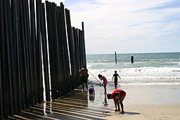 US Mexico Border Fence [Public Domain]