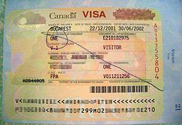 Visa to Canada By Udv 03:40, 22 August 2015(UTC) [Public domain], via Wikimedia Commons