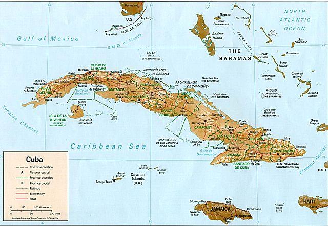 Cuba [Public Domain] via https://commons.wikimedia.org/wiki/File:Cuba_rel94.jpg