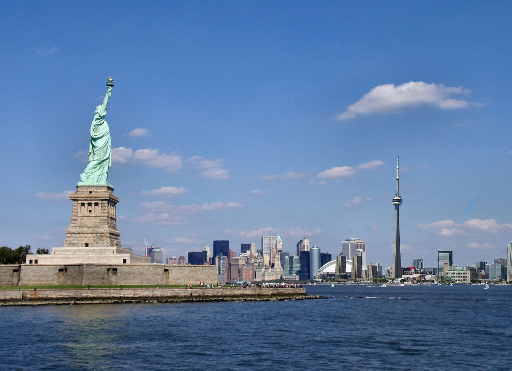 Toronto and New York