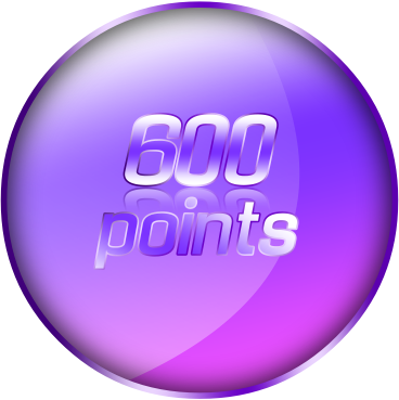 600 Points by https://www.deviantart.com/theredcrown/art/600-Points-Coin-571760337