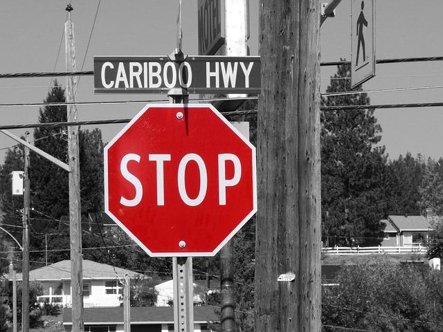 Stop Sign via https://pixabay.com/en/stop-shield-street-sign-road-sign-2461741/