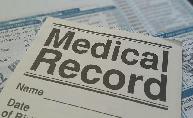 Medical record via https://pixabay.com/photos/medical-record-health-patient-form-781422/