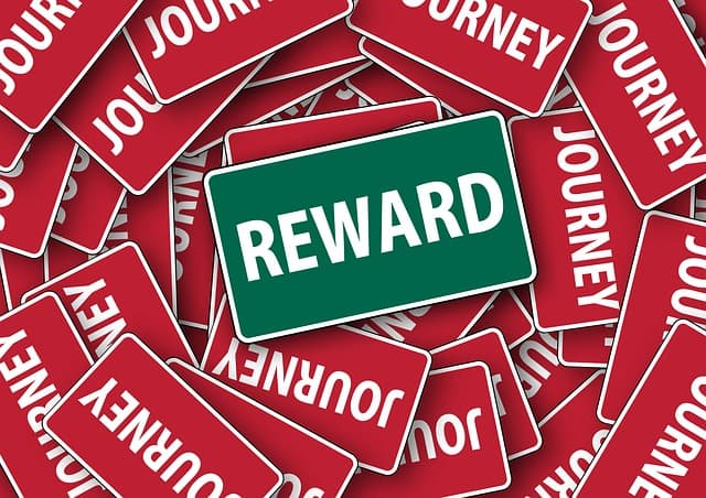 Rewards via https://pixabay.com/illustrations/signs-green-red-reward-travel-108062/