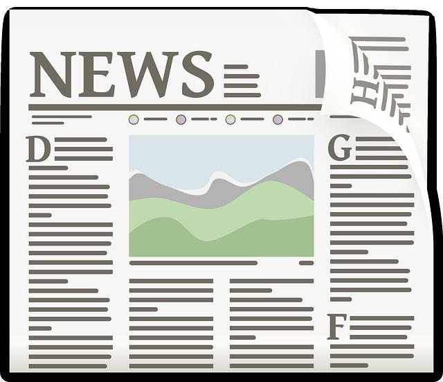 Newspaper https://pixabay.com/vectors/newspaper-article-journal-headlines-154444/