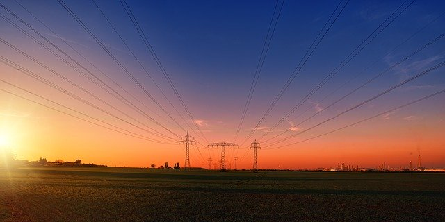 Electricity poles https://pixabay.com/photos/electricity-power-poles-power-lines-3442835/